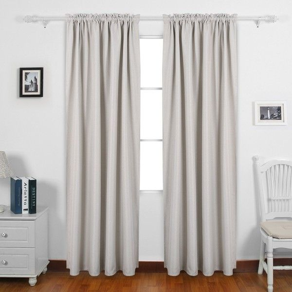 Deconovo Solid Color Rod Pocket Curtains Faux Linen Curtains Thermal... ❤ liked on Polyvore featuring home, home decor, window treatments, curtains, pole pocket curtains, cream curtains, faux linen curtains, off white curtains and thermal draperies