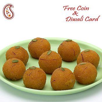 Kesar Motichoor Laddoos with Free Laxmi Ganesh Coin