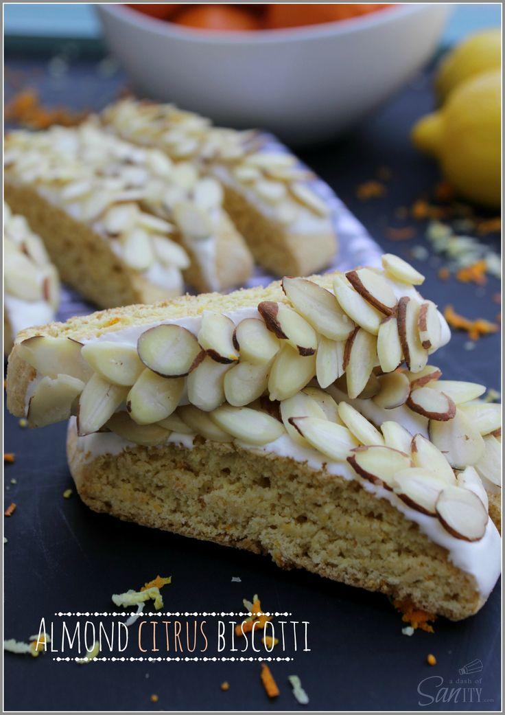 Almond Citrus Biscotti