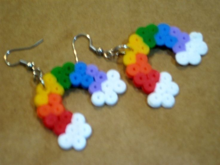 Rainbow Pixellette Earrings.