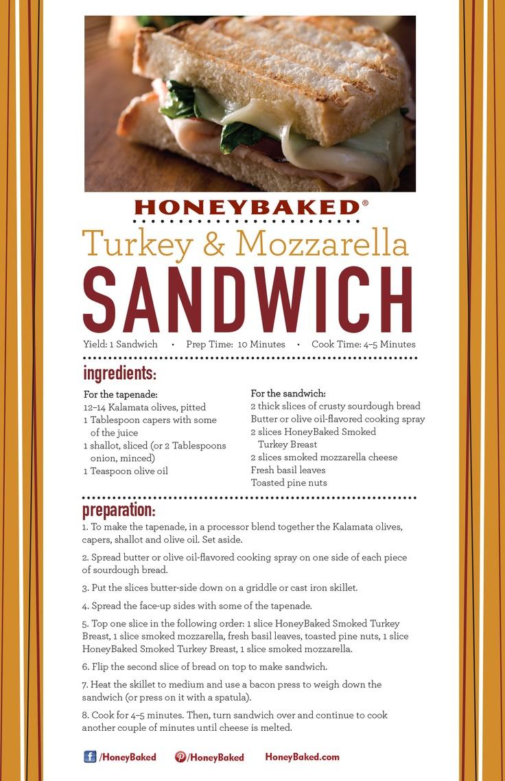 Honeybaked ham menu nutrition for Thanksgiving turkey sandwich recipe