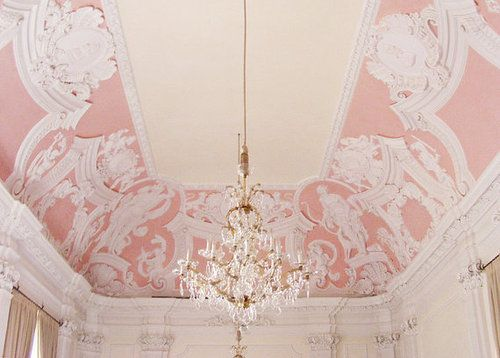 FleaingFrance.comDecor, Lady Room, Little Girls Room, Ceilings Details, Interiors, Pastel Pink, Romantic Quotes, Pink Ceilings, Pretty