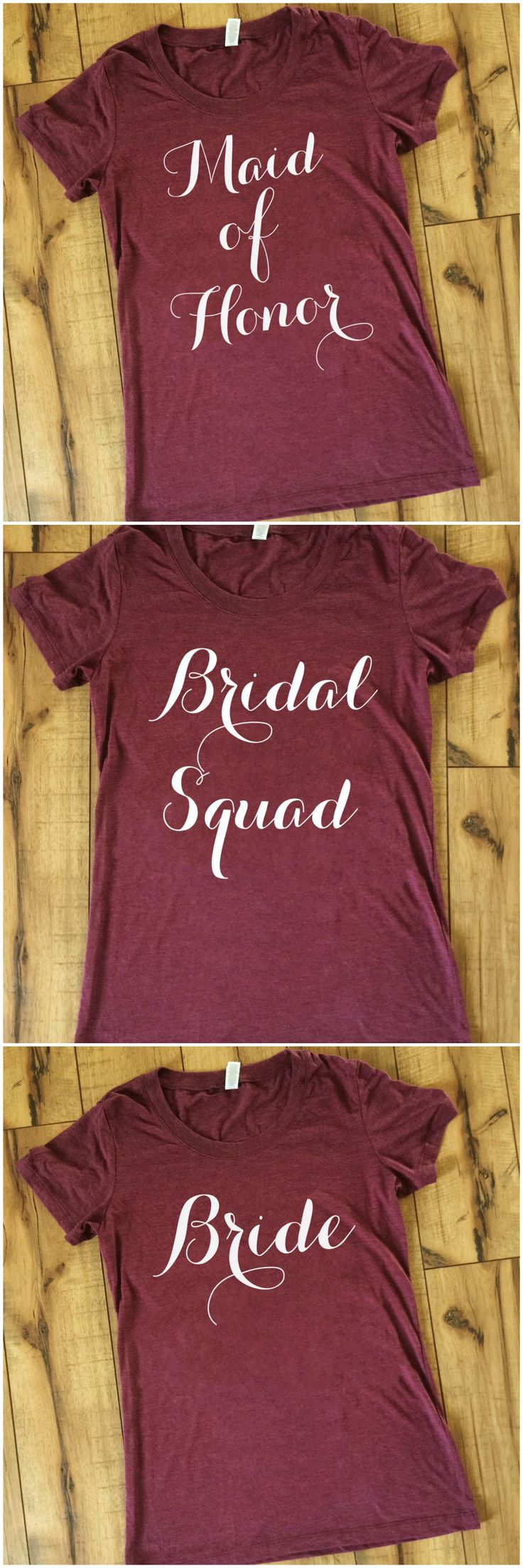Bridal party squad t-shirts by Folklore Couture - these are perfect for bachelorette parties! #squadgoals
