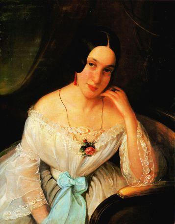 Constantin Daniel Rosenthal - Portret de femeie, 1844