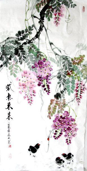глициния китайская живопись: 15 тыс изображений найдено в Яндекс.Картинках