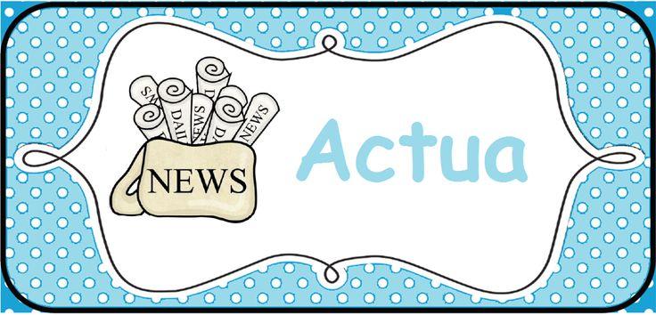 Structuur in de klas brengen: kaarten voor op het prikbord. --> Actua © Sarah Verhoeven