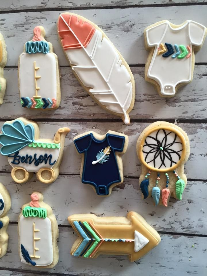 Baby shower with a tribal theme ! - HayleyCakes and Cookies
