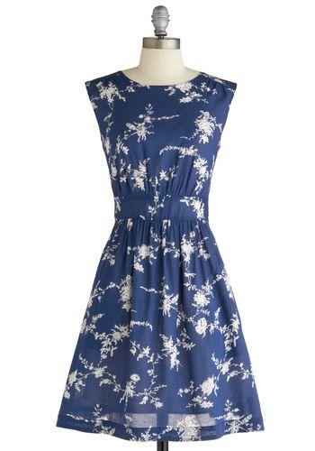 : Blue Floral Dresses, Summer Dress, Style, Bridesmaid Dresses, Modcloth, Retro Vintage Dresses