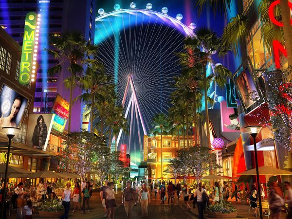 The High Roller- WORLD'S TALLEST WHEEL @ 550ft On the Strip near the  Flamingo Officially
