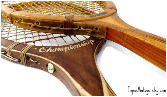 Two Tennis Racquets Hi Speed and Championship by JoyousVintage, $18.00