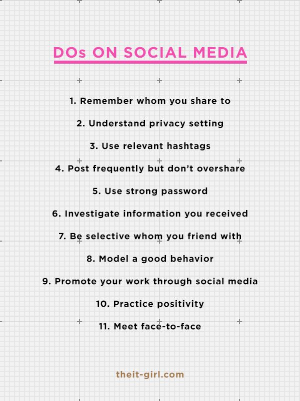 Do and Don'ts on Social Media