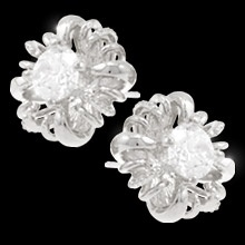 Sterling Silver posts, lead and nickel free, also comes in gold studs.  $43.95