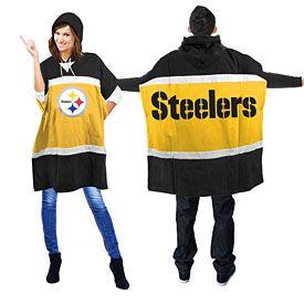 Pittsburgh Steelers Sweatshirt-style NFL Hoodie Poncho