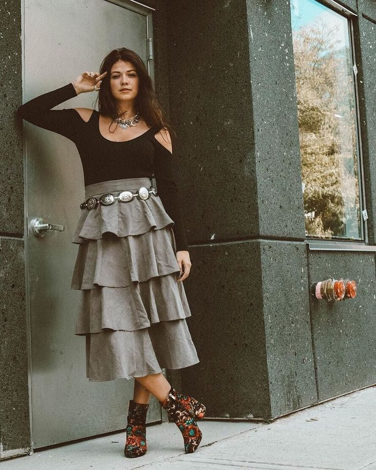 Courtney of @mimosasmanhattan in the coolest eclectic-chic combo featuring our Intergalactic Statement Choker Necklace