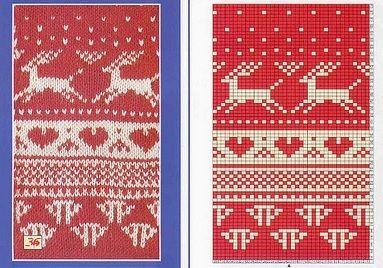 Christmas jacquard patterns
