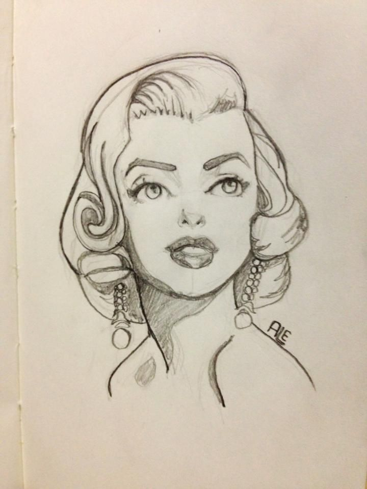 Marilyn Monroe by ~Alemchl on deviantART | This image first pinned to Marilyn Monroe Art board, here: http://pinterest.com/fairbanksgrafix/marilyn-monroe-art/ || #Art #MarilynMonroe