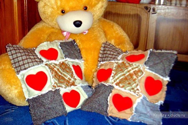 Наволочка для декоративной подушки в детскую. Лоскутное шитьё