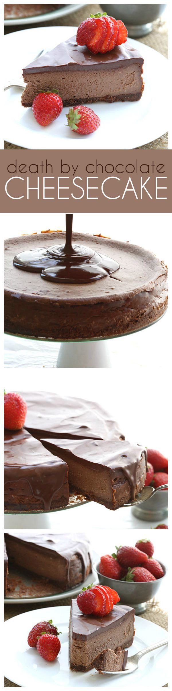 The best low carb chocolate cheesecake recipe, bar non. Accept no substitutes. THM Keto Banting Recipe.  via @dreamaboutfood