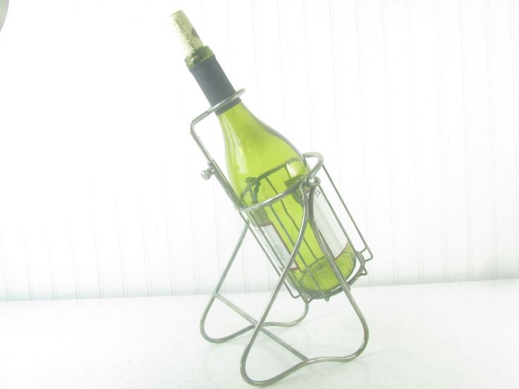 1000 ideas about wine holders on pinterest bottle holders wine racks and knife block - Wire wine bottle carrier ...