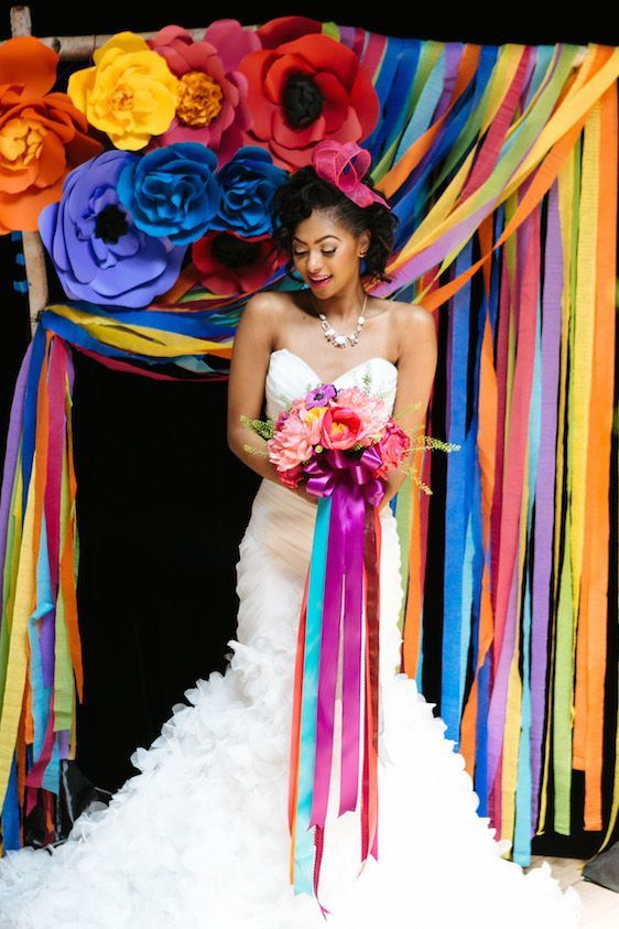 As Seen On THE PERFECT PALETTE - Mexican Inspired -  Extra large Paper Flower Backdrop  - Custom Colours