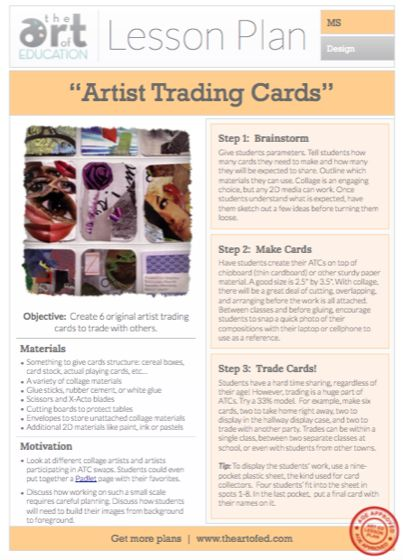 Artist Trading Cards: Free Lesson Plan Download