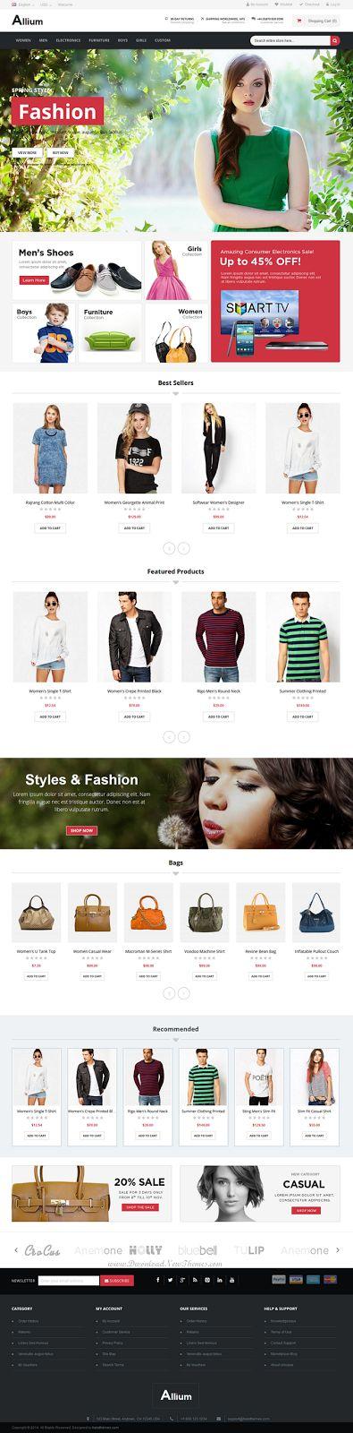 Allium Responsive Multipurpose Magento Theme #eCommerce #shop #store #design
