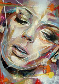 Portrait Painting on Card by Art By Doc, via Flickr