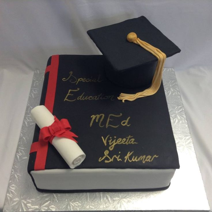 Graduation Celebration Cake decorated by Coast Cakes Ltd
