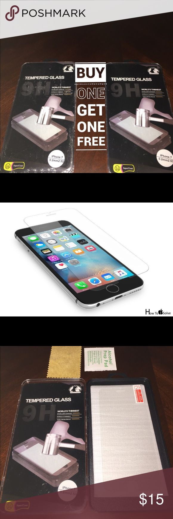 2x Tempered Glass for iPhone 7 Package Includes:  ➜ 2x Tempered Glass for iPhone 7  Specification ➜ Material: Tempered glass ➜ Hardness: 9H ➜ Thickness: 0.33mm ➜ Curve: 2.5D Smooth Edge ➜ Clarity: 100% clear Features: ➜ Tempered Glass Anti-scratch (Hardness: 9H),0.37~0.4mm,2.5D Rounded Edges ➜ Light Penetration Ratio 93.7% (Comparison: Glasses 92%, General protective film 80%) ➜ Anti-Fingerprint and Oleophobic Coated, Ultra Slim Thickness, Anti-Shatter Film, Sensitive Touch and Bubble Free…