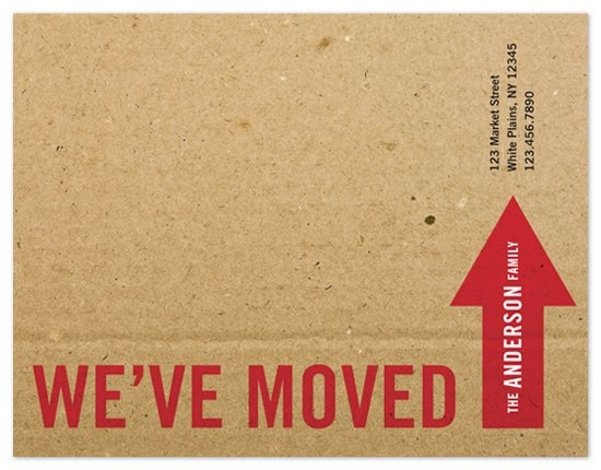 We've moved invites. Love the box look to this design! #arrow #red