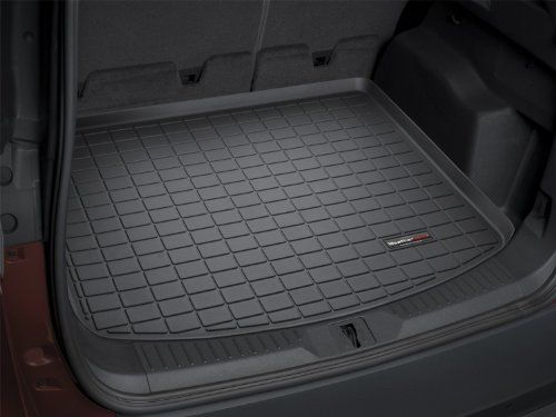 WeatherTech Custom Fit Cargo Liners for Chevrolet Equinox 2010-2017, Black. For product info go to:  https://www.caraccessoriesonlinemarket.com/weathertech-custom-fit-cargo-liners-for-chevrolet-equinox-2010-2017-black/