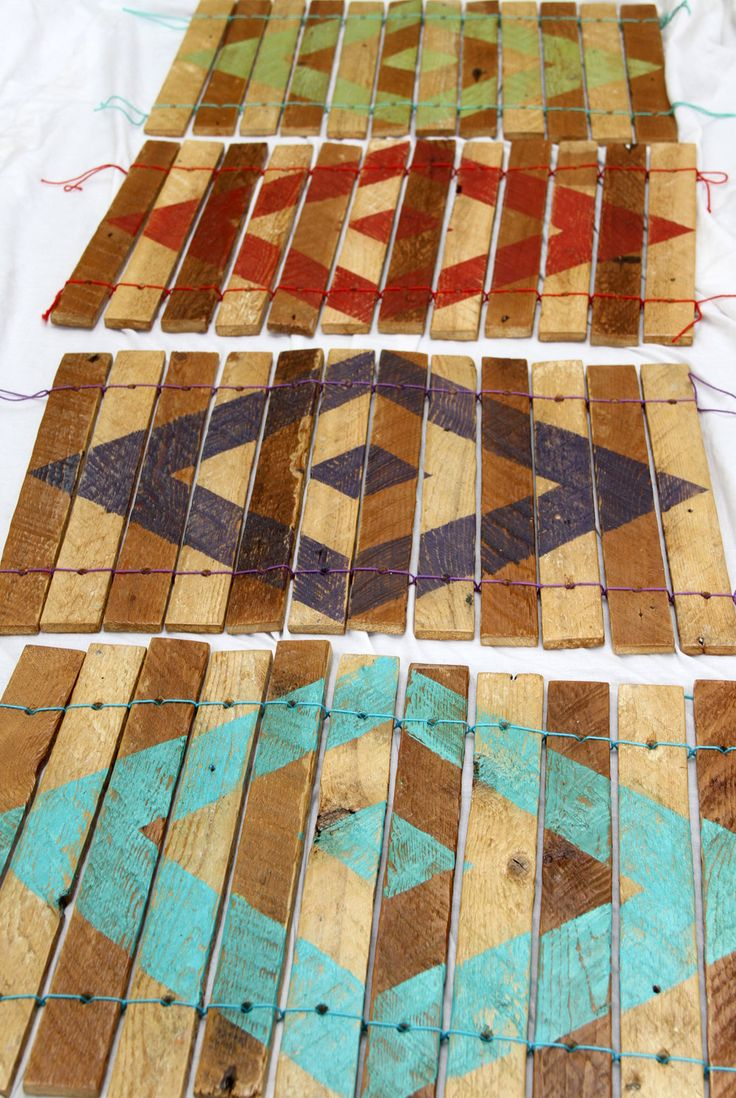 Reclaimed plaster lath placemats
