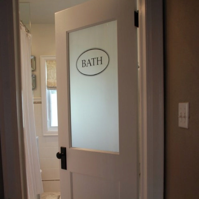 Neat Idea For A Bathroom Door