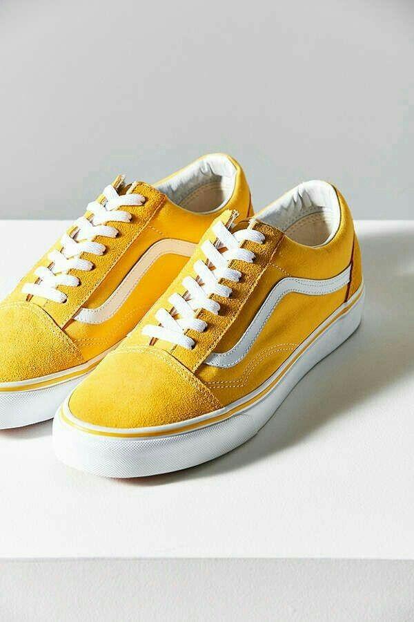 ef7fb60b641 pinterest: badtripxc | ~Yellow~ in 2019 | Vans suede, Girls sneakers ...