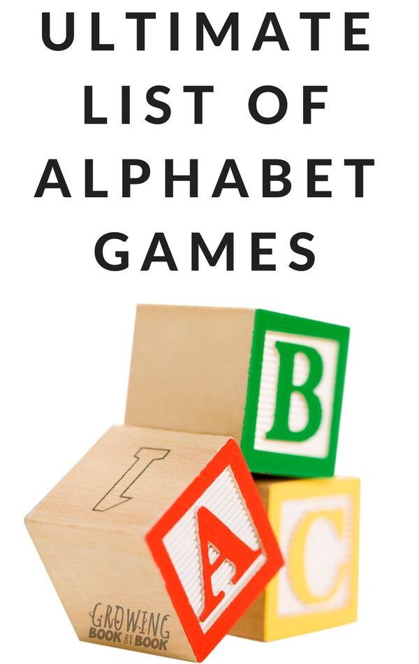 Hands on alphabet games for kids! #alphabetgames #education #preschool