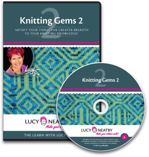 Knitting Gems 2   Would you like to become ambidextrous? How about a little of steeks, shapings and scissors?  All these and more can be found on Gems 2.