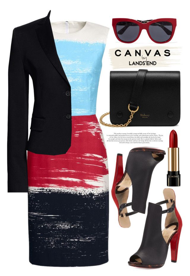 """""""Paint Your Look With Canvas by Lands' End: Contest Entry"""" by alaria ❤ liked on Polyvore featuring Lands' End, Canvas by Lands' End, Christian Louboutin, Mulberry, Dolce&Gabbana and Lancôme"""