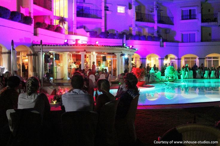Romantic evening at Hotel Tamisa Golf, Mijas Costa, Spain.