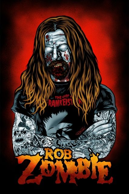ROB ZOMBIE ARTWORK | Leviathan the Fleeing Serpent Rob Zombie