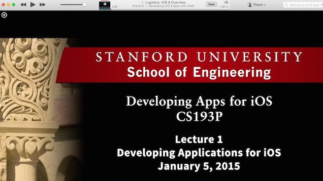 Stanford Course: Developing iOS 8 Apps with Swift - #iOSDev #iOS8 #Swift