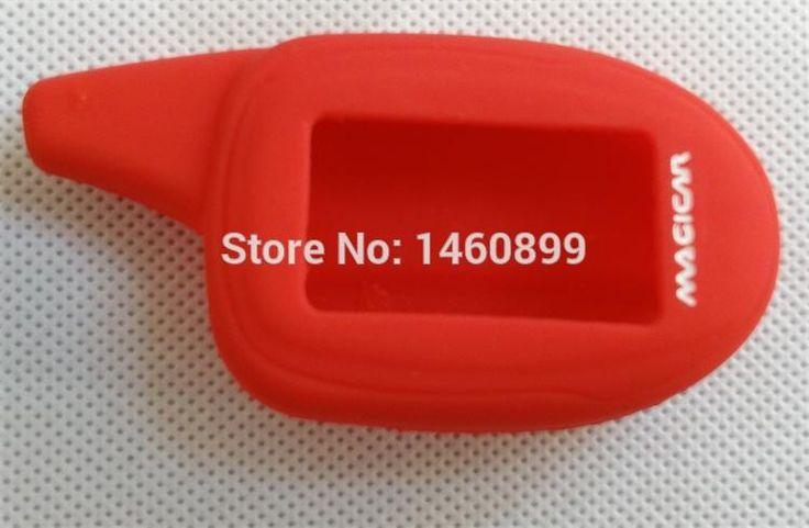 Cubierta de silicona Protectora para el Ruso Scher Khan Magicar 7 Lcd Controlador Remoto de Alarma Llavero Cadena, Scher-khan Khan M7 Llavero