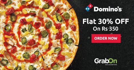 Have A Yummy Cheesy Wednesday With #Dominos. Get Flat 30% OFF on Rs 350 + Extra 25% #Cashback. Hurry! Order Now - http://www.grabon.in/dominos-coupons/