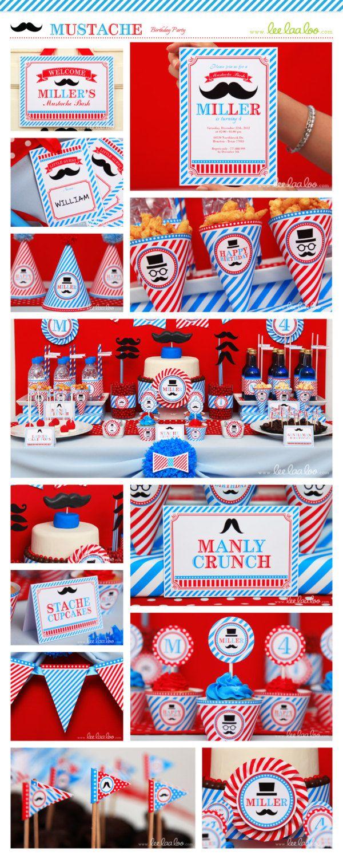 Mustache Bash Mustache Party Little Man Birthday by LeeLaaLoo, $35.00