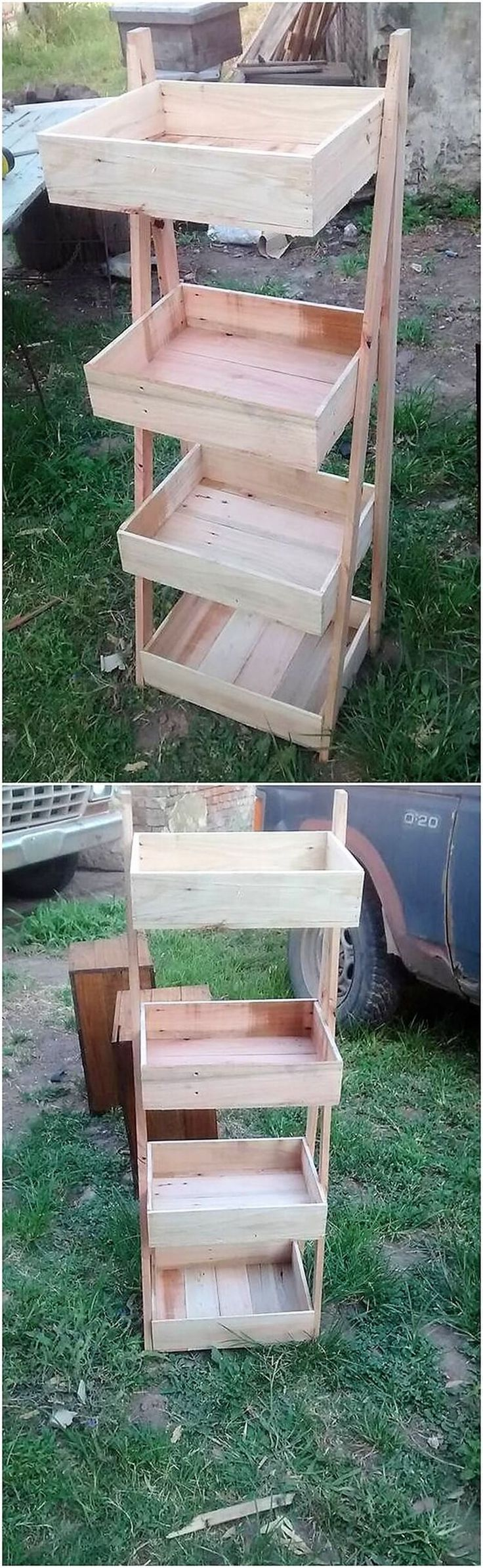In terms of there recycling the wood pallet in your kitchen area this designing idea is best one for you. If you are creative enough then you can even think about designing it by your own self help. It is all set into the shape of the well style that looks so unique and creative for others. Try it now!