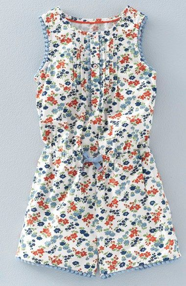 Mini Boden 'Pretty' Print Romper (Toddler Girls, Little Girls & Big Girls) available at #Nordstrom