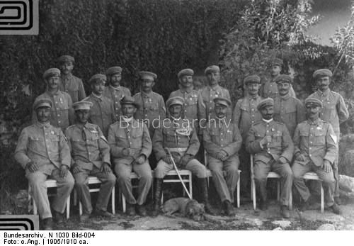 South West Africa - officers of the German colonial forces , 1st row , 4vl : Viktor Franke
