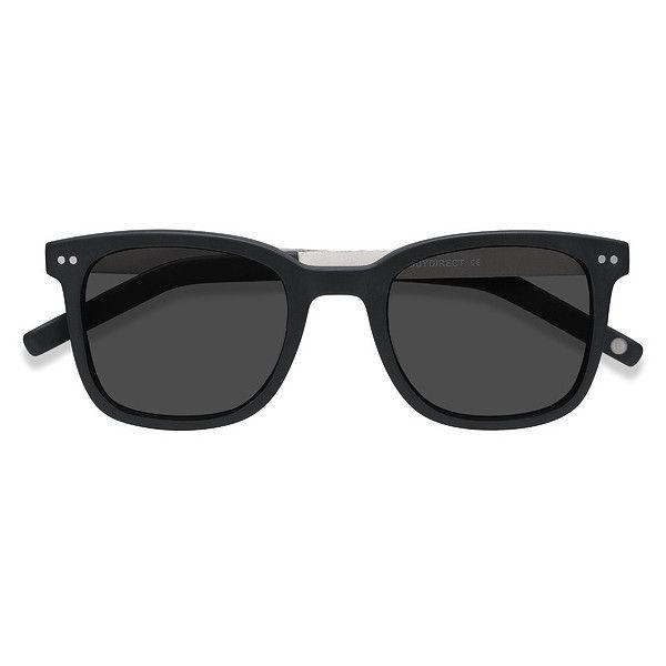 Men's Peach - Matte Black square - 16443 Matte Black Rx Sunglasses ($42) ❤ liked on Polyvore featuring men's fashion, men's accessories, men's eyewear, men's sunglasses, mens eyewear, mens sunglasses and mens square sunglasses