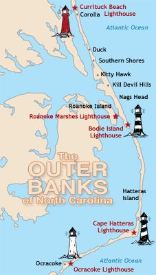 The Outer Banks of North Carolina  So many memories of the several times I've been.  So much to see and do,
