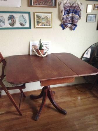 Vintage Drop Leaf Dining Table Losangelescraigslistorg