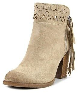 Not Rated Chamonix Women Round Toe Synthetic Nude Ankle Boot.